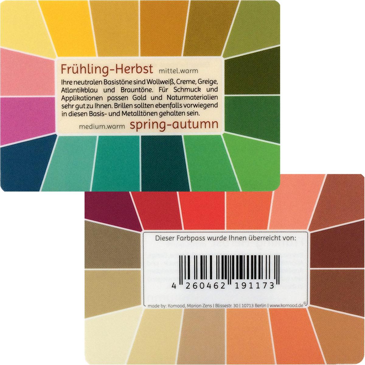 farbpass fr hling herbst mit 32 farben memo komood shop. Black Bedroom Furniture Sets. Home Design Ideas