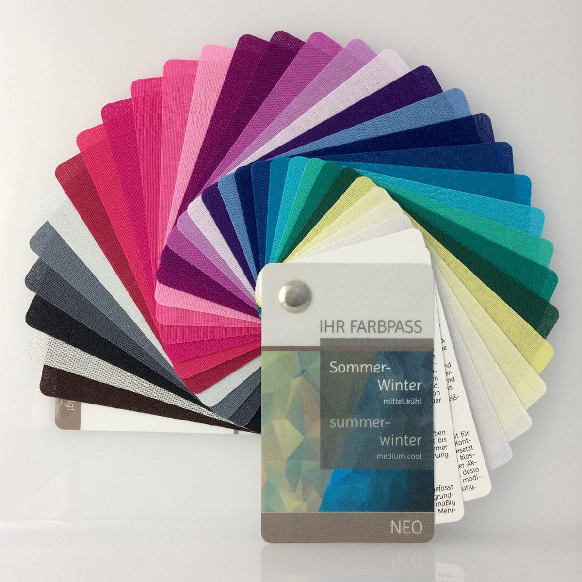 stoff farbpass sommer winter mit 30 farben neo komood shop. Black Bedroom Furniture Sets. Home Design Ideas